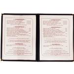 Menu Covers | Restaurant Supplier | Public Kitchen Supply