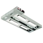 Double Lighted Overhead Warmer | Public Kitchen Supply