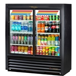 "True - 54"" 6-Shelf Glass Door Refrigerator (2 Sec)