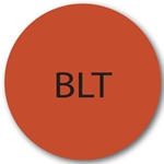 Daymark - BLT Circle Label (1000/roll) | Public Kitchen Supply