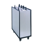 "APW Wyott - Four Tube Heated Enclosed Mobile Dispenser (6"" Plate) 
