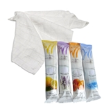 "White Towel Services - 8x8"" Pre-Moistened Refreshment Towel (Peach/Mango) 