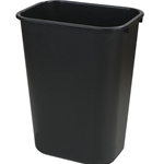Carlisle - 41 Qt Black Plastic Wastebasket | Public Kitchen Supply