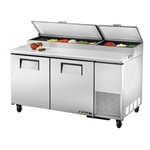 True - 2 Door Pizza Prep Table (9 Pan) | Public Kitchen Supply