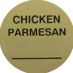 Daymark - Chicken Parmesan Circle Label (1000/roll) | Public Kitchen Supply
