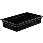 "Cambro - Full 1/1 Size x 4"" Deep High-Heat Food Pan Black Hot 