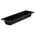 "Cambro - Half 1/2 Size Long x 2.5"" Deep Food Pan Black Cold 
