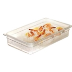 "Cambro - Third 1/3 Size x 5"" Deep Pan Colander Clear Cold 