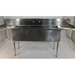 "Iron Guard-Sink 3 Comp 16 X 20 X14 with 18"" RLDB 304 Top Galv Legs 