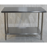 Iron Guard-Work Table All SS 30 X 36, 430 -16GA with 18GA Undershelf | Public Kitchen Supply