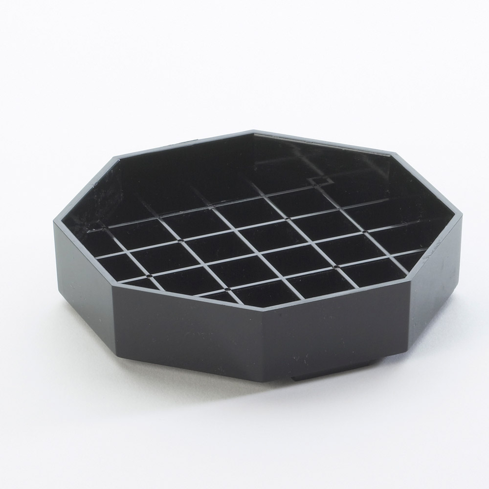Cal-Mil - Black Octogon Classic Drip Tray (4 x 4) | Public Kitchen Supply