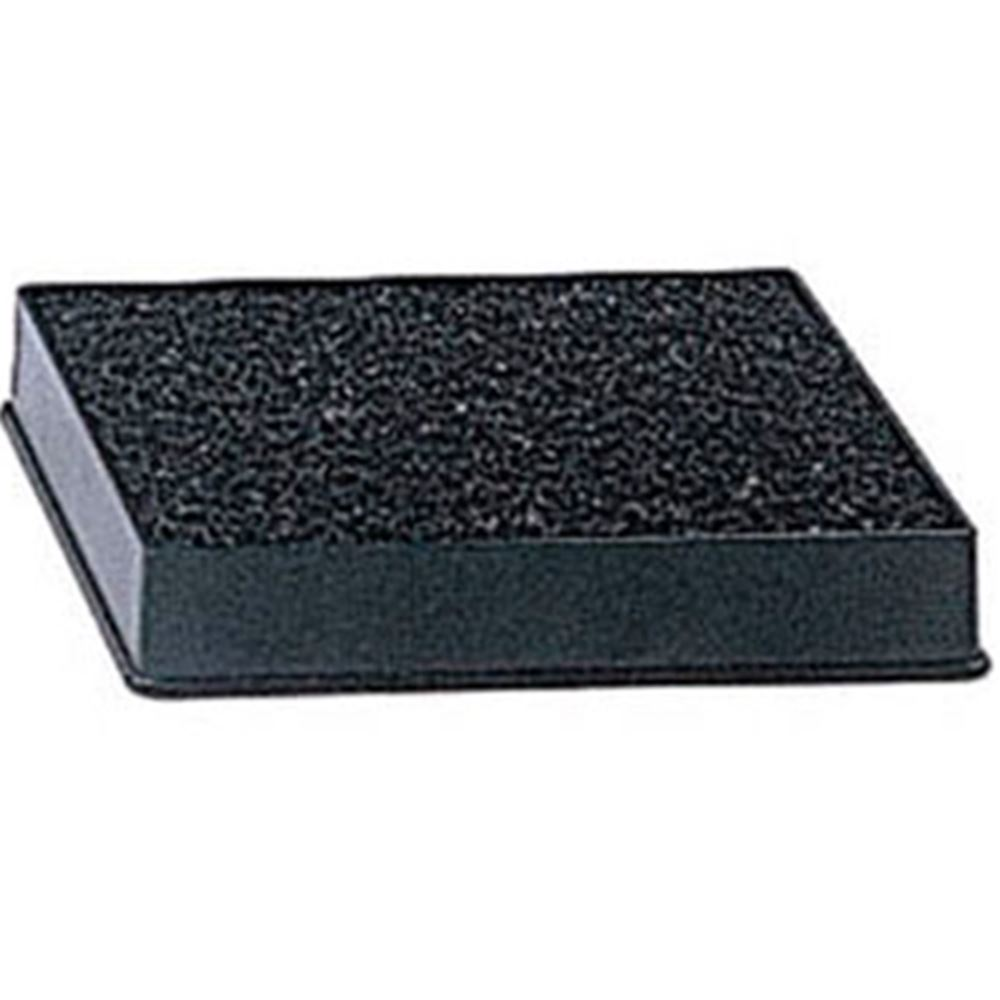 "Update International - 4 x 3"" Black Drip Tray with Sponge 