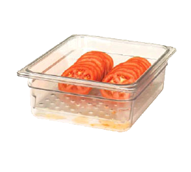 "Cambro - Full 1/1 Size x 3"""" Deep Pan Colander Clear Cold 