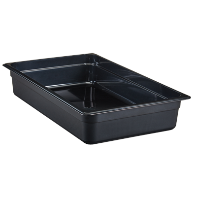 "Cambro - Full 1/1 Size x 4"""" Deep High-Heat Food Pan Black Hot 