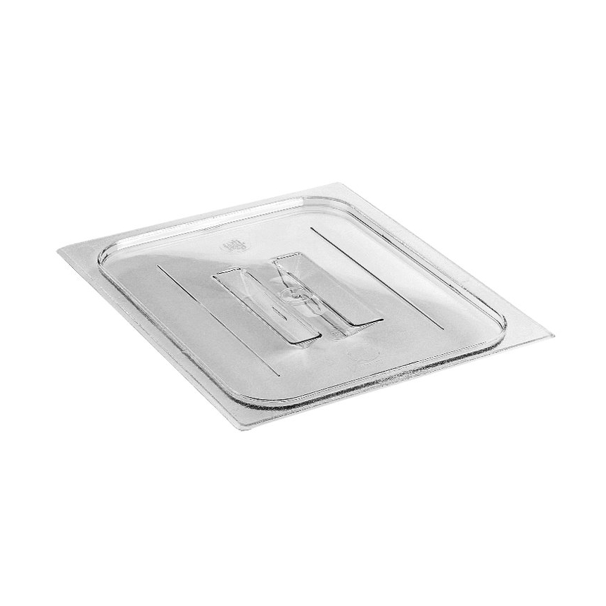 Cambro - Half 1/2 Size Food Pan Cover W/Handle Clear Cold | Public Kitchen Supply