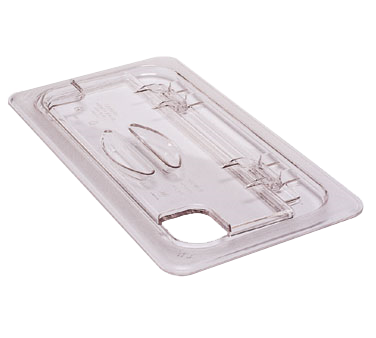 Cambro - Half 1/2 Size Food Pan FlipLid Cover W/Notch Clear Cold | Public Kitchen Supply