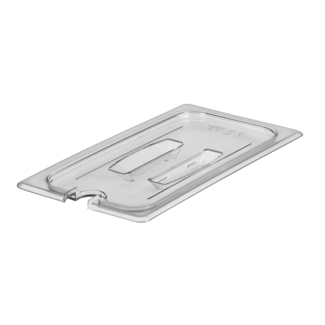 Cambro - 1/3 Size Food Pan Cover Handle & Notch Clear | Public Kitchen Supply