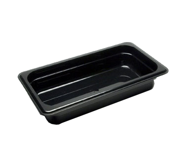 "Cambro - 1/3 Size x 2 1/2"""" Deep Food Pan (Black) 