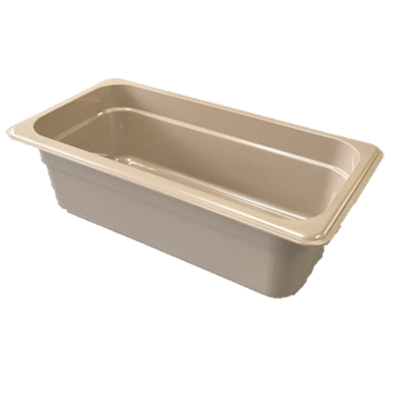 "Cambro - 1/2 Size Long x 4"""" Deep High-Heat Food Pan (BLK) 