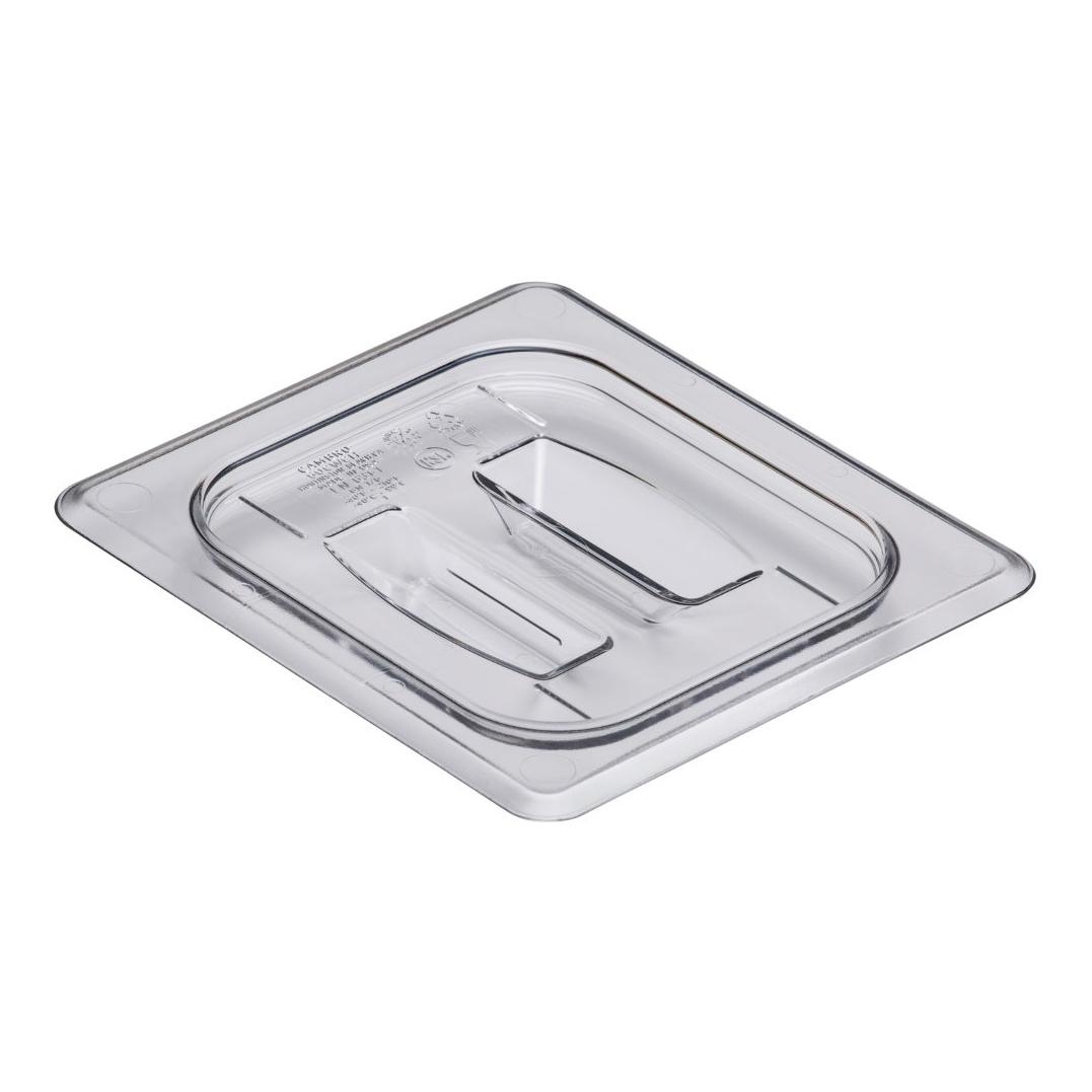 Cambro - Sixth 1/6 Size Food Pan Cover W/Handle Clear Cold | Public Kitchen Supply