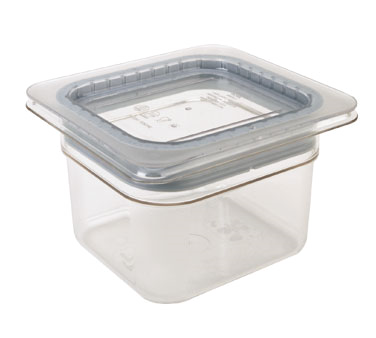 Cambro - Sixth 1/6 Size Food Pan GripLid Cover Clear Cold | Public Kitchen Supply