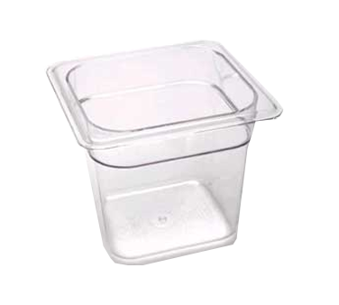 "Cambro - Sixth 1/6 Size x 6"""" Deep Food Pan Clear Cold 