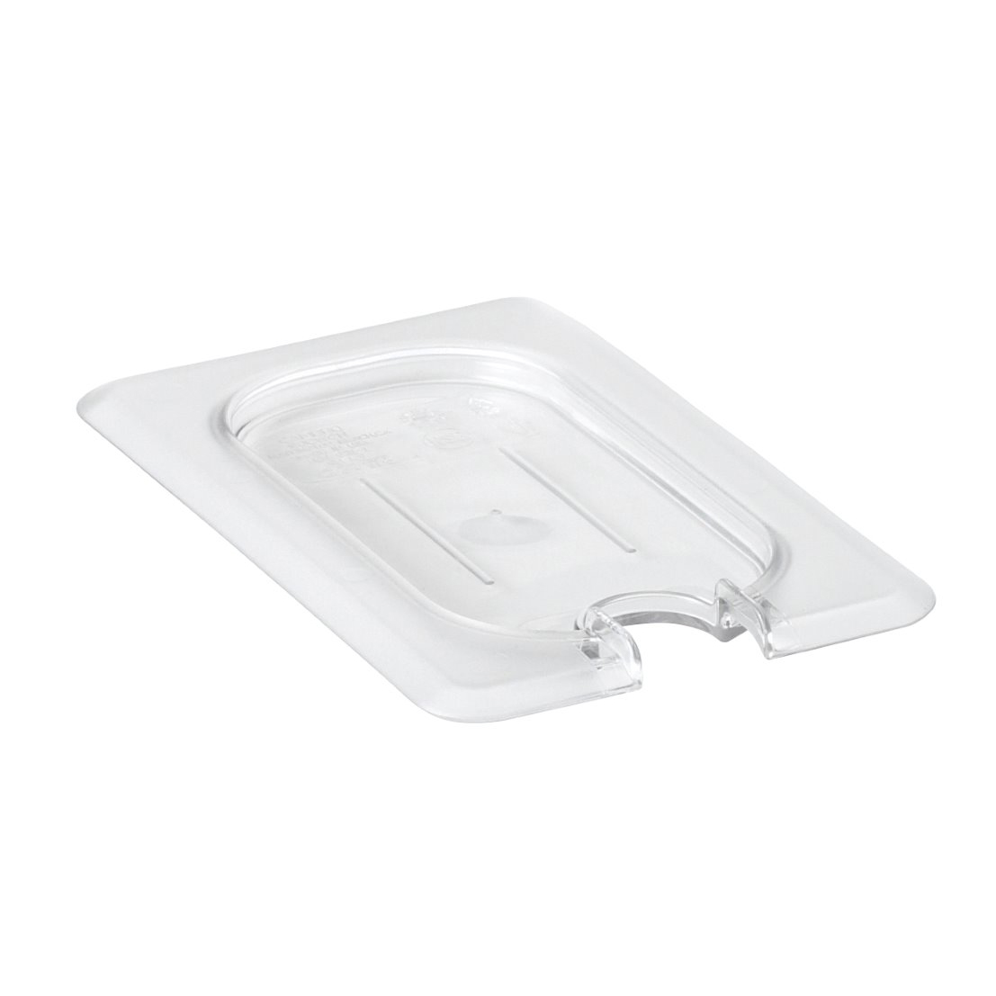 Cambro - Ninth 1/9 Size Food Pan Cover W/Notch Clear Cold | Public Kitchen Supply