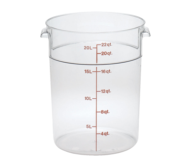 Cambro - 22 Qt Round Storage Container (Clear) | Public Kitchen Supply