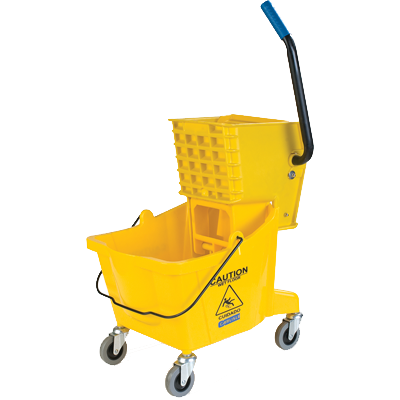 Carlisle- Mop Bucket Combo, 26 qt., with side press wringer, yellow (3690804)