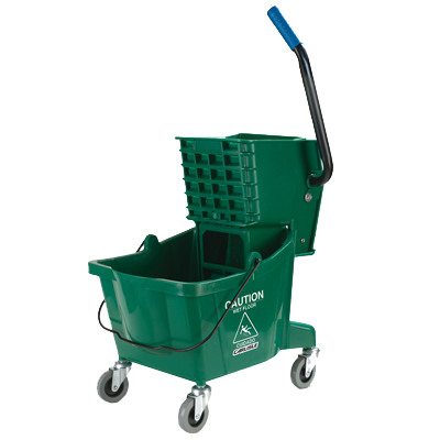 Carlisle- Mop Bucket Combo, 26 qt., with side press wringer, green (3690809)