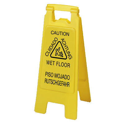"Carlisle- Flo-Pac® Safety Floor Sign, ""Wet Floor"", 11""L x 25""H, two-sided (3690904)"