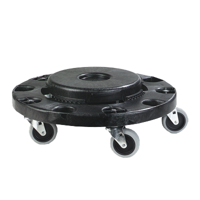 "Carlisle- Bronco™ Container Dolly, round, 6""H x 17-3/4"" dia., black (3691103)"