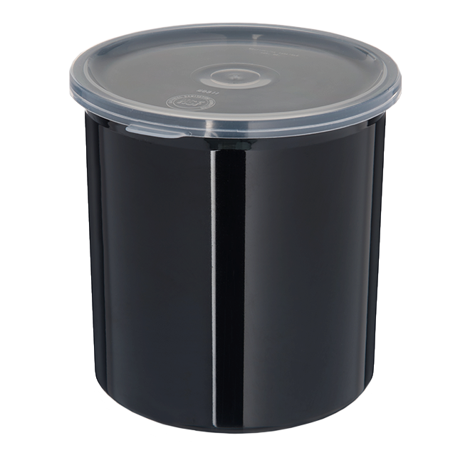 Carlisle- Classic Crock, 1.2 qt., snap-on polypropylene lid, black (30103)