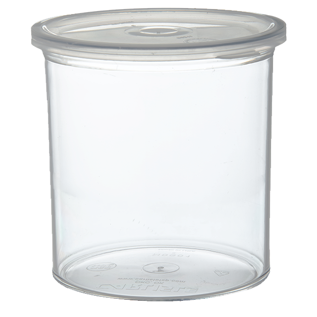Carlisle- Classic Crock, 1.2 qt., snap-on polypropylene lid, thick-walled, clear (30107)