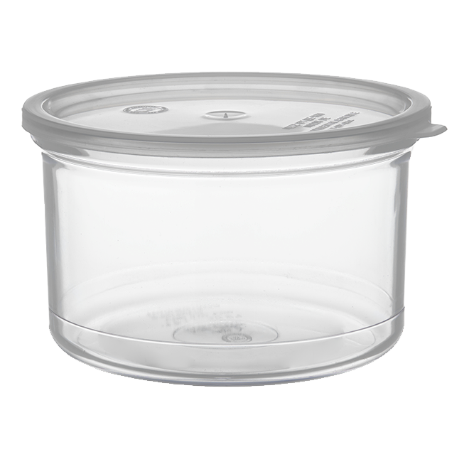 Carlisle- Classic Crock, 1.5 qt., snap-on polypropylene lid, clear (31607)