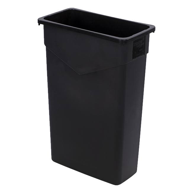 Carlisle- Trimline™ Waste Container, 23 gallon, rectangular, black (34202303)