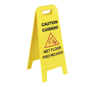 "Carlisle- Flo-Pac® Safety Floor Sign, ""Wet Floor"", 11""W x 25""H, two-sided, yellow (3690000)"