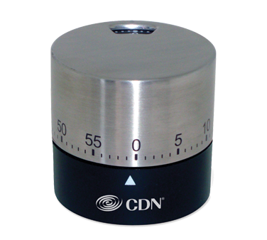 CDN - Black Round Mechanical Timer | Public Kitchen Supply