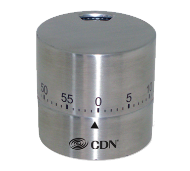 CDN - Silver Round Mechanical Timer | Public Kitchen Supply