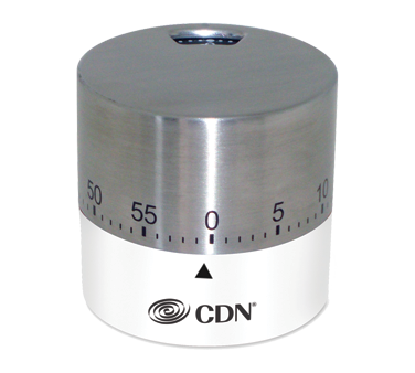CDN - White Round Mechanical Timer | Public Kitchen Supply
