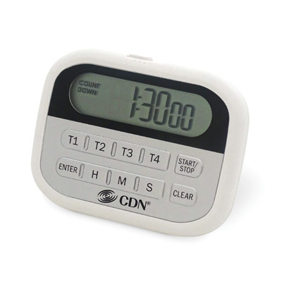 CDN - 4-Event Timer & Clock | Public Kitchen Supply