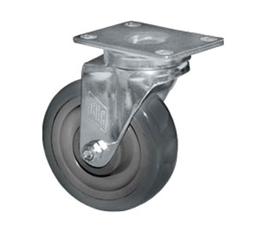 "Component Hardware- Caster,  5"" diameter, swivel, 2-3/8"" x 3-5/8"" plate, no brake, gray wheel (CMP1-5RPB)"