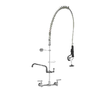 "Component Hardware- Top-Line® Pre-Rinse Assembly, with Add-on Faucet, wall mount, 8"" (203mm) OC, (TLL13-1100-AF4Z)"
