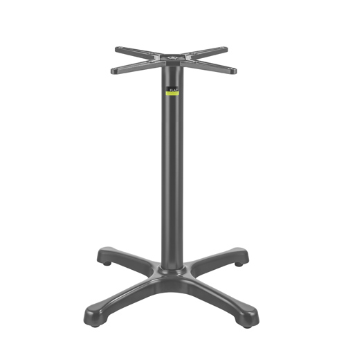 Flat Tech - Anthracite Coated Aluminum Auto-Adjust BX26 Table Base | Public Kitchen Supply