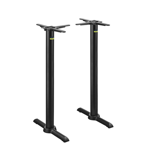 Flat Tech - Cast Iron Auto-Adjust Bar Height KT22 Two Table Bases | Public Kitchen Supply