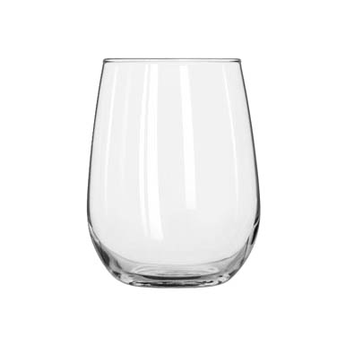 Libbey- Wine Glass, 17 oz., white wine, Stemless 12/Case (221)