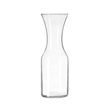 Libbey- Carafe, 40 oz. rim full (33-7/8 oz. to the neck), glass 12/Case (795)
