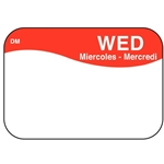 "DayMark - .8 x 1.3"" Dissolvable Label (Wed) 
