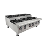 APW Wyott - Champion 2-Burner Stepped Gas Hot Plate (Int'l) | Public Kitchen Supply