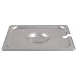Browne - 1/2 Size Pan Cover W/Notch (SS) | Public Kitchen Supply